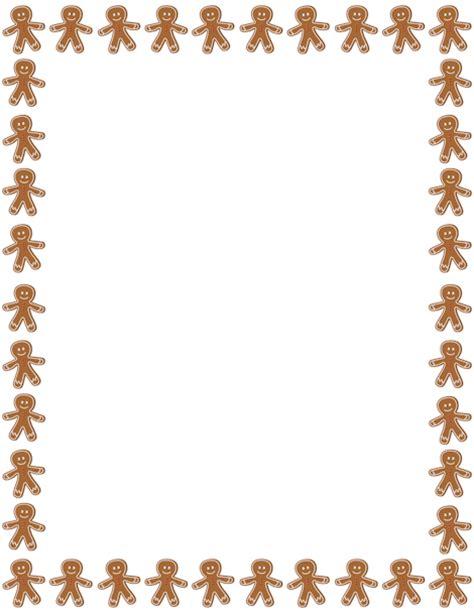 free printable gingerbread man border printable gingerbread man border free gif jpg pdf and