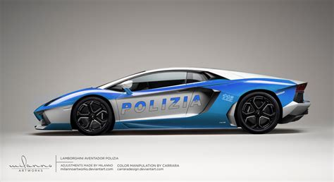 Polizia Lamborghini Lamborghini Aventador Polizia Render