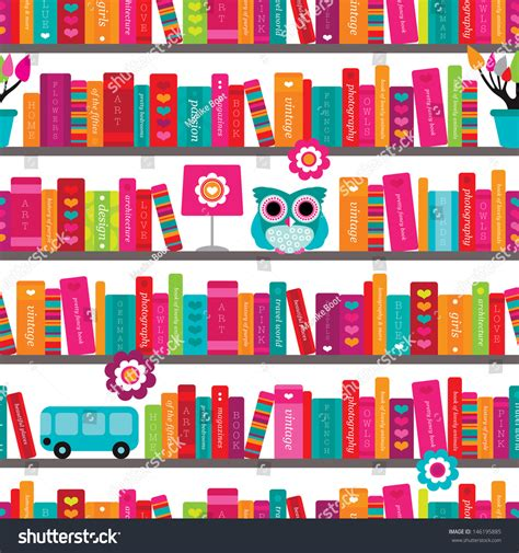background pattern book seamless book shelve and interior illustration background