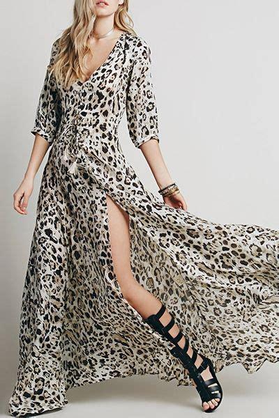 Zaful Dress Vintage Motif Print 25 best ideas about leopard maxi dresses on