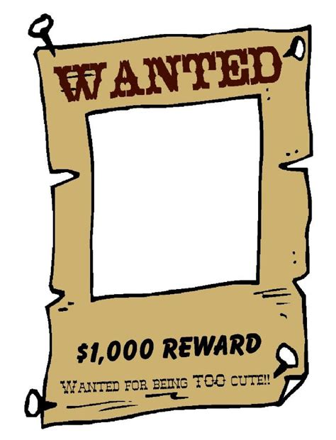 wanted poster template free printable best photos of wanted template free wanted sign