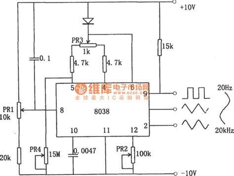 integrated circuit precision waveform generator 8038 function generator circuit automotive circuit circuit diagram seekic