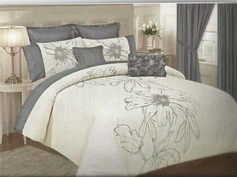 king king size comforter set grey and white 10