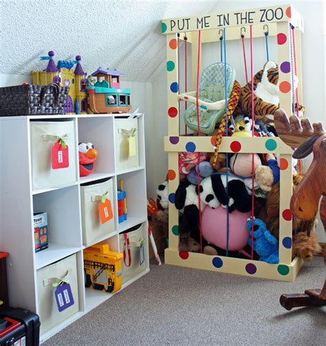 creative toy storage solutions for your kids room stuffed animal storage ideas create your own little zoo