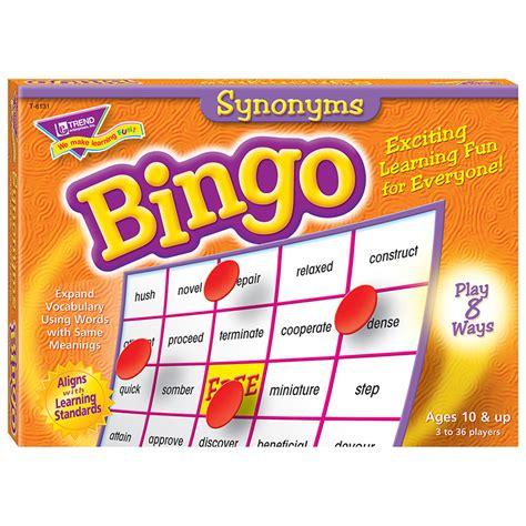 doodle synonym bingo synonyms ages 10 up bingo t 6131