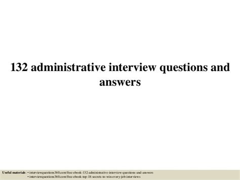132 administrative questions and answers pdf