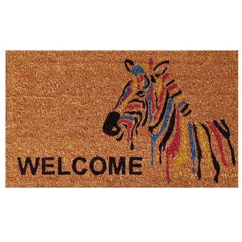 Zebra Doormat by Zebra Welcome Doormat Callowaymills