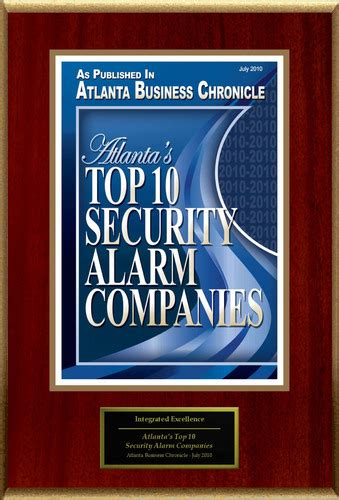 integrated excellence llc dba ie home security selected for atlanta s top 10 security alarm