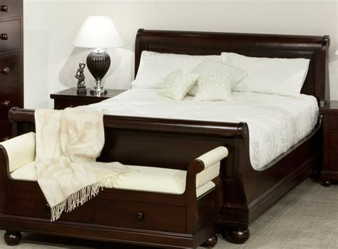 bedding furniture antoinette mahogany sleigh queen bed