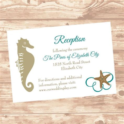 diy reception card template wedding reception or information insert card diy template
