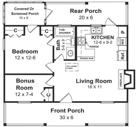 floor plan for 600 sq ft house cabin style house plan 1 beds 1 baths 600 sq ft plan 21 108