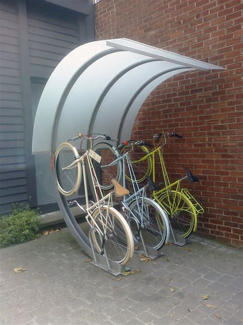 Covered Bike Rack by Chic Cyclists San Francisco Bicycle Parking