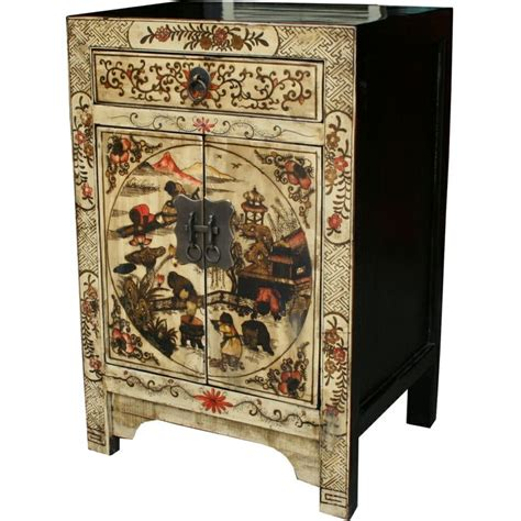 cream painted bedside table bedside tables chinese furniture chinese antique furniture