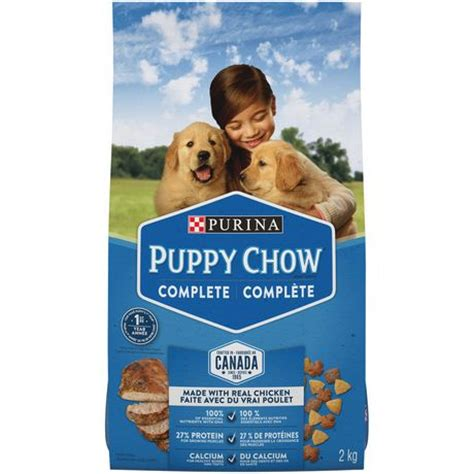 all puppy food purina 174 puppy chow 174 puppy food for all puppies 16kg bag walmart ca