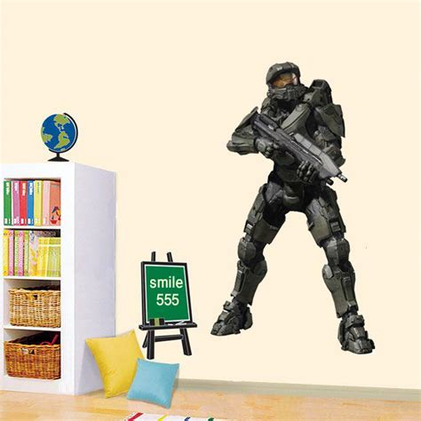 halo wall stickers master chief wall sticker halo reach decal 3 4 spartan