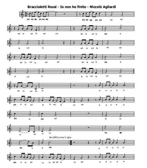 sigla braccialetti testo musica e spartiti gratis per flauto dolce braccialetti