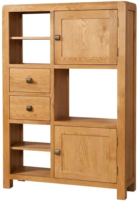 Cabinet Door Display Buy Devonshire Avon Oak High Display Cabinet 2 Door 2 Drawer Cfs Uk