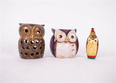Home Decor Owl by Collection Of Owl Themed Ornaments Trivets And Other Home