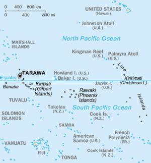 map of kiribati islands kiribati la enciclopedia libre