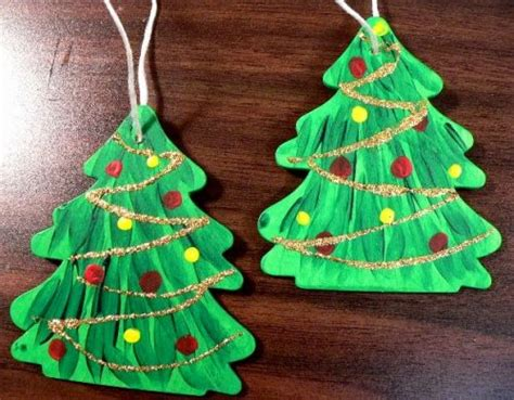 ornament christmas hand painted wooden tree