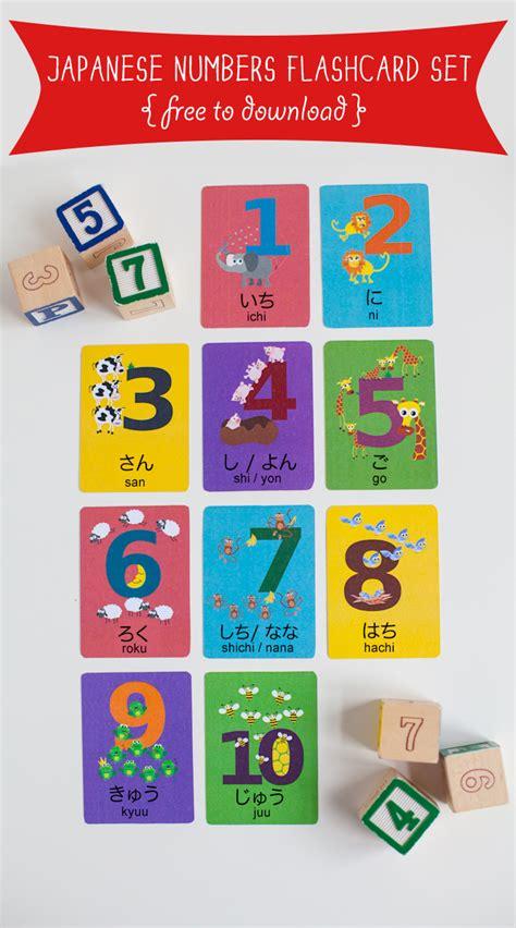 japanese numbers 1 10 printable japanese numbers flashcard printable gus on the go