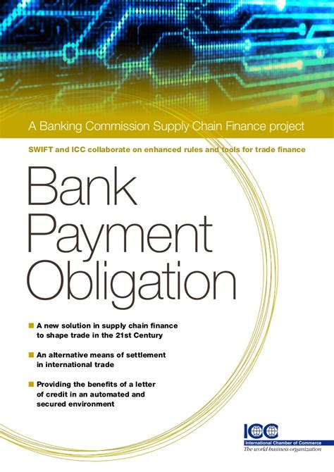 bank payment bank payment obligation bpo brochure from icc