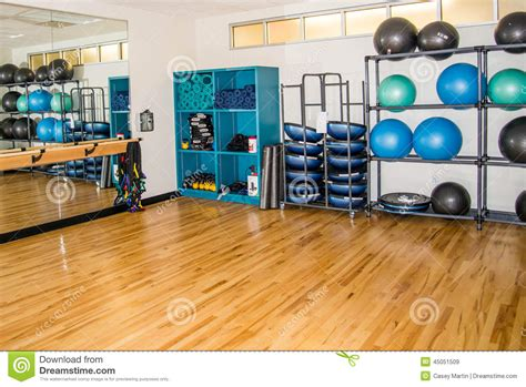 exercise equipment in bedroom group exercise room with workout equipment stock photo image 45051509