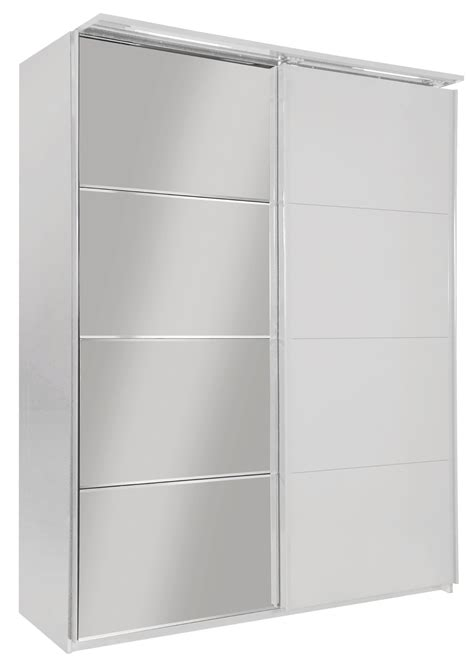 armoire designs armoire design 2 portes coulissantes avec 233 clairage laqu 233 e blanche largo armoire 2