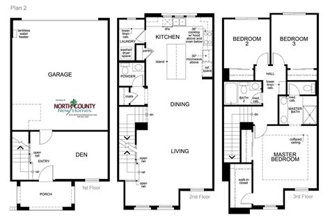 Inland Homes Floor Plans Laterra Townhomes Floor Plans San Diego New Homes