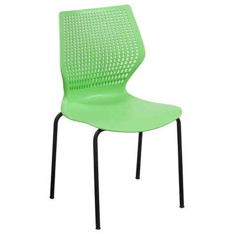 Green Plastic Chairs by Used Metal Frame Plastic Stack Chair Green National