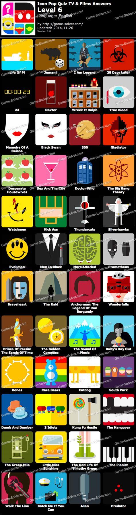 promi quiz film und tv icon pop quiz tv and films level 6 game solver