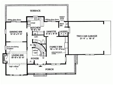 eplans farmhouse house plan center colonial 2030