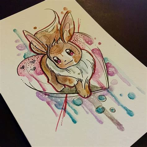eevee tattoo eevee one of many available as a prints coming