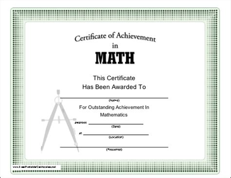 math certificate template pin maths certificate template on