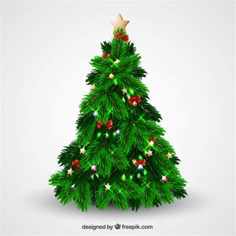 arbol navidad con luces arbol de navidad con brillantes luces y lazos descargar