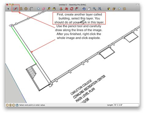 google sketchup for floor plans how to build a building starting from a floor plan in