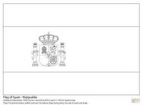 flag of spain coloring page free printable coloring pages - Spain Flag Coloring Page