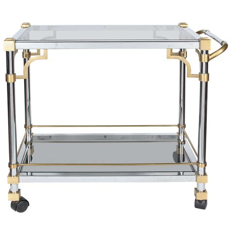 industrial bar cart industrial two tone rolling bar cart attrib to maison