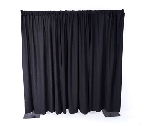 black pipe and drape black pipe drape 8 and 16 per ft flexx productions