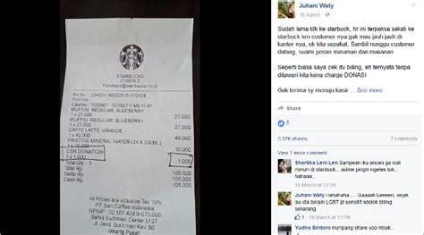 Pemberitahuan Penting Untuk Pembeli seorang pembeli protes dipaksa bayar donasi saat ngopi di starbucks kabar berita artikel