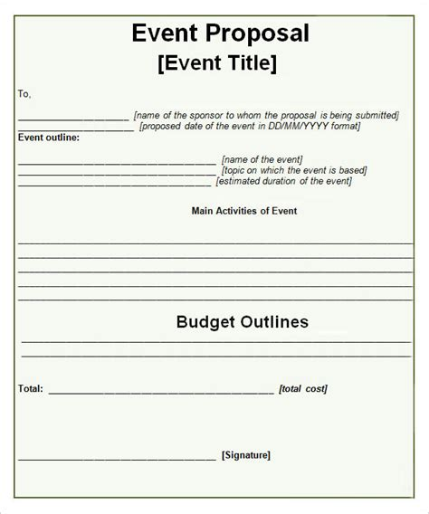 proposal format event management sle event proposal template 15 free documents in pdf