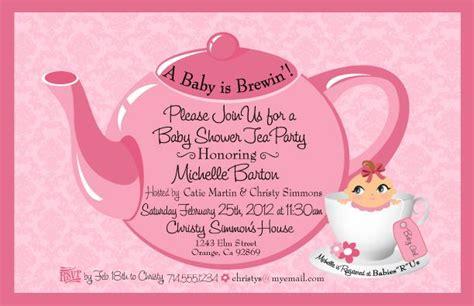 Tea Baby Shower Invitation Wording by Tea Baby Shower Invitation Baby Shower