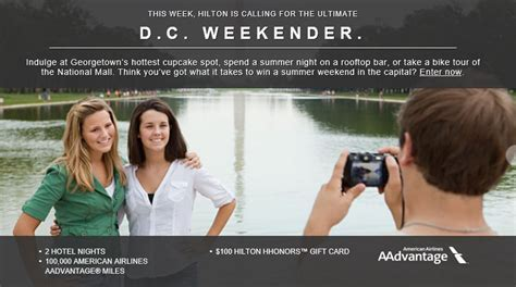 Hilton Sweepstakes - ultimate weekender washington d c travel sweepstakes by hilton milesgeek