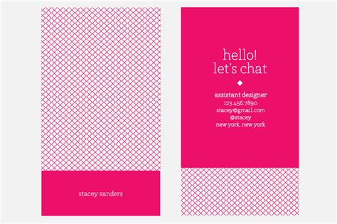 hot pink business card business card templates on