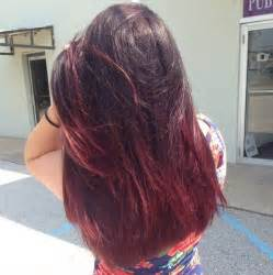 Black and burgundy ombre hair colors hair color trends 2017 ideas