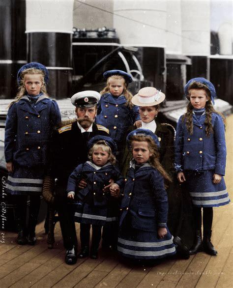 tragic     beautiful   imperial family  russia abord  yacht polar