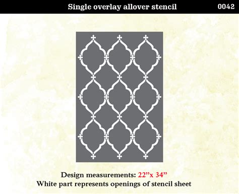 wall stencil template moroccan trellis stencil lattice morrocan pattern wall