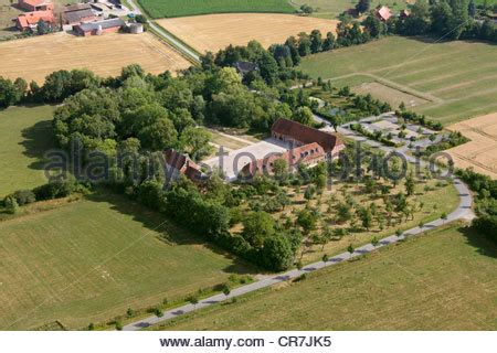 haus nottbeck agriculture aerial view of farmsteads and farmland in