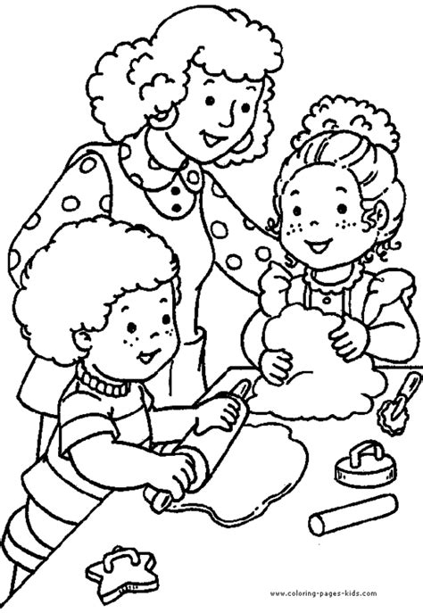 preschool coloring pages coloring town