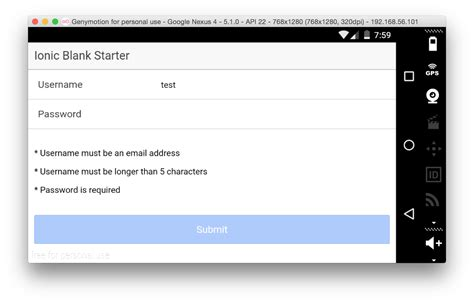 angularjs password pattern validation angularjs form validation in your ionic framework app